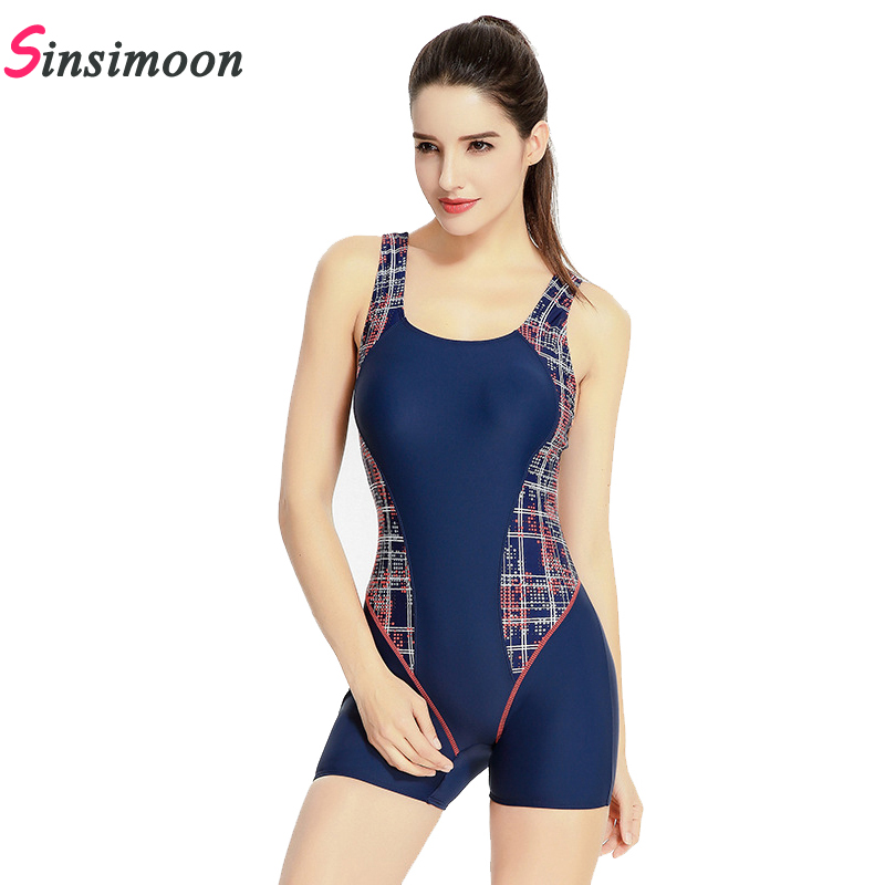 Retro Vintage One piece Swimsuit Mulheres Impressão Swimwear Quick dry Competição maiô Sexy Monokini Beachwear Boxer Bodysuit