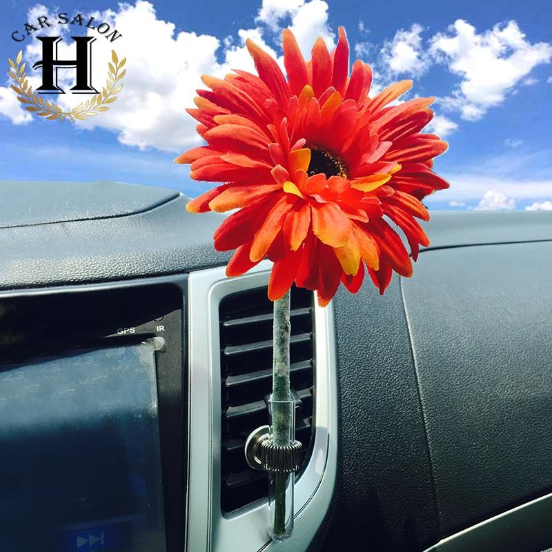 2017 hot 1pcs daisy vase Car-styling Perfumes Air freshener Colorful Air Freshener Fragrance Car Air Conditioning Vent Clip