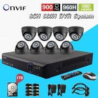 CCTV 8ch System AHD L Surveillance Kit 8 Channel 960h Dvr 900TVL IR Cut Camera Kit