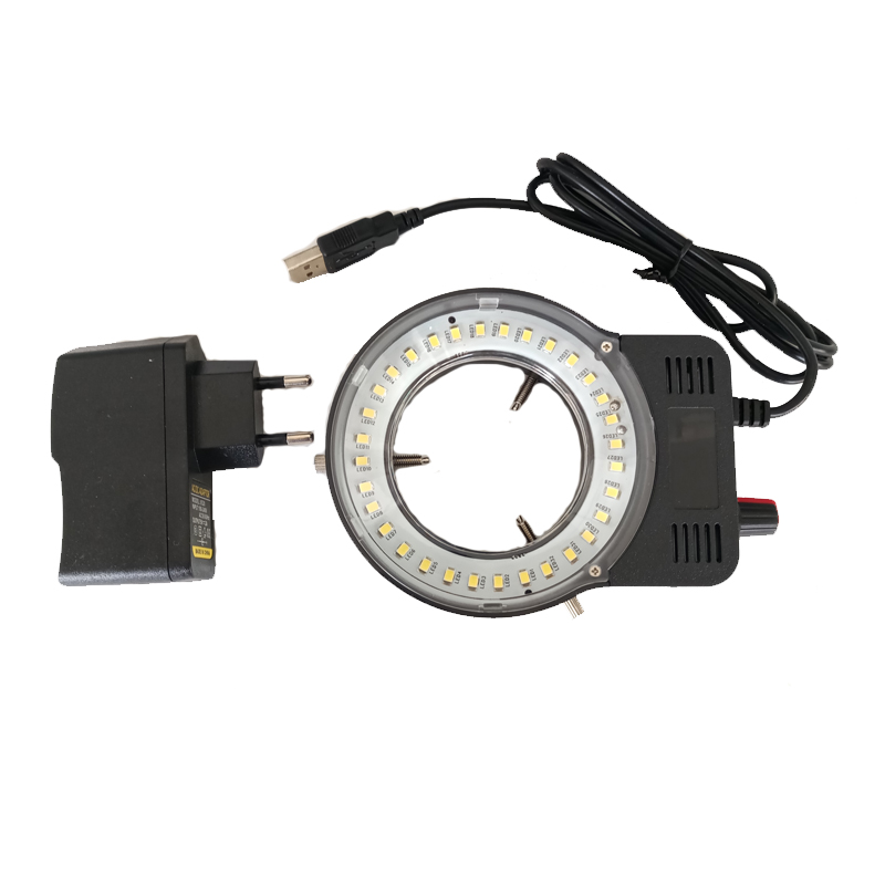 110-220V 48pcs LED USB Output Adjustable Ring Light Illuminator Lamp For Industry Stereo Microscope Industrial Camera Magnifier