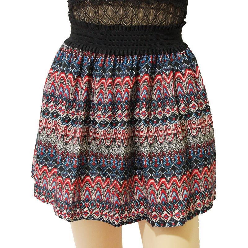 Fashion Pleated Retro High Waist Summer floral plaid Short Mini Skirts 26