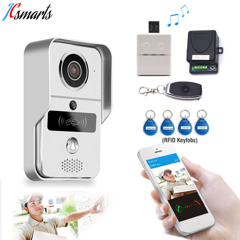 High quality intercom wired wifi video doorbell audio door phone wireless RFID reader wall mounted auto record video in SD card цена