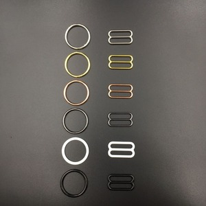Image 2 - Wholesales 10 סטים\חבילה (20 pcs) טבעות חזייה ומחוונים רצועת שמאי אבזמים 6 צבע תחתוני התאמת אביזרים