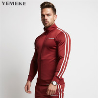 2017 Men Casual Hoodies Fitness Brand Clothing Camisetas Tracksuits Men Bodybuilding Sweatshirt Muscle Hooded Jackets