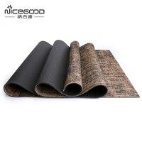 2017 Professional Jute Yoga Mat Environmental Protection Floor Carpet For Fitness Camping Gymnastics