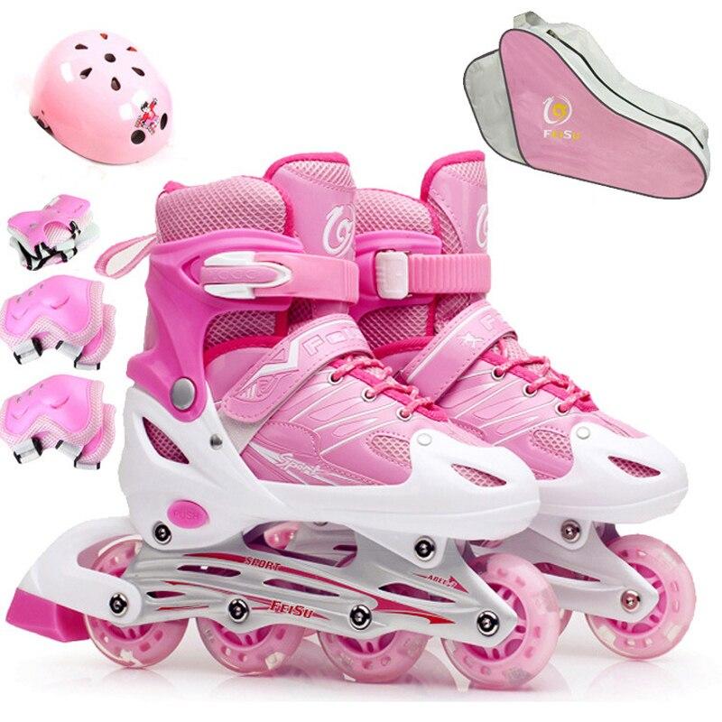 10 in 1 Set Inline Professional Women Adult Kids Slalom Sliding Ice Skates Skating Shoes Adjustable