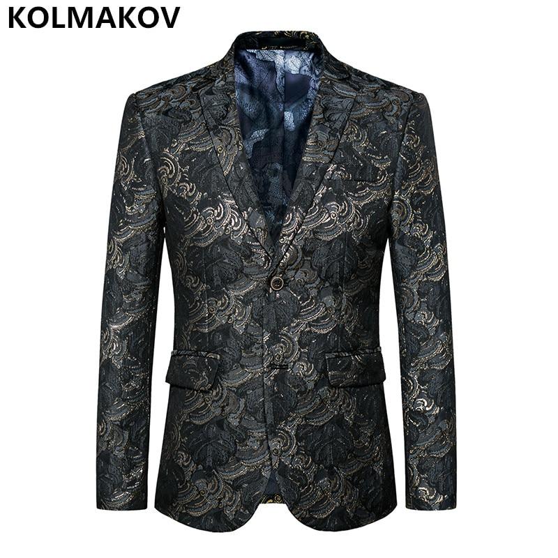 2018 New Arrival Mens printing Blazers formal attire dress Blazer Mens coats Fashion Host Suits Jacket for Men Plus size M-6XL