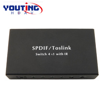 YOUTINGHDAV YT-ADSW401 Spdif/TosLink Digital Audio 4×1 Switchers 4 INPUT 1 OUTPUT Optical Interface