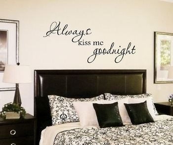 Always Kiss Me Goodnight Wall Quote Decal Lettering Art On Wall Decal  Sticker Home Decor Art