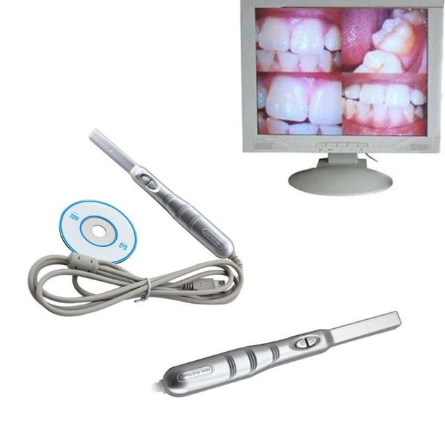 Nueva Cámara Intraoral Dental Intraoral 6-LED Solarcam USB 4 Mega Píxeles + software