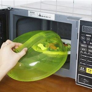Forno de microondas de cozinha anti-sputtering tampa anti-tampão de óleo quente selado pp cobrir prato de alimentos protetor fresco splatter prova guarda