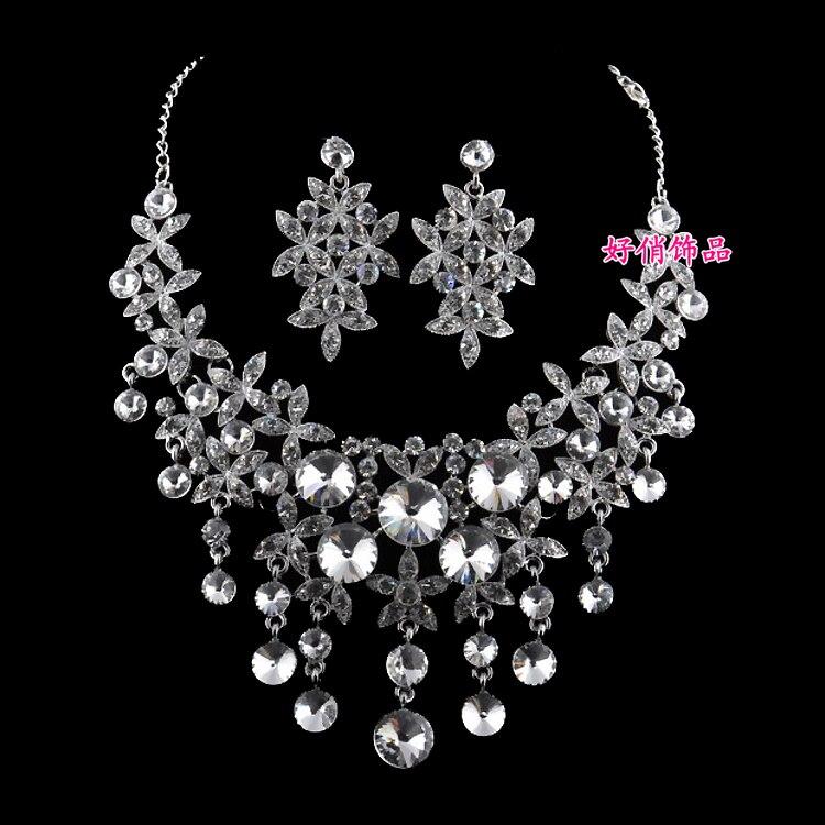 2c3e7cda37fe Collar nupcial tiara tres piezas de joyería boda novia nupcial accesorios  regalos de boda