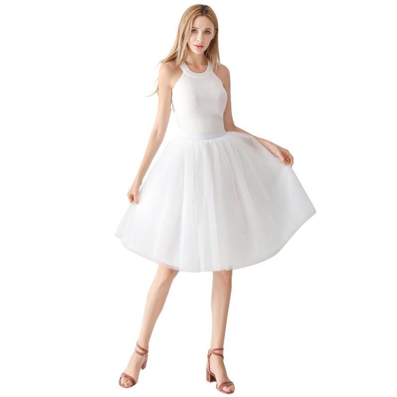 Rockabilly Tulle Bridal Wedding Petticoat Crinoline Short Mini Woman Tutu Skirt Underskirt Jupon Mariage Wedding Accessories