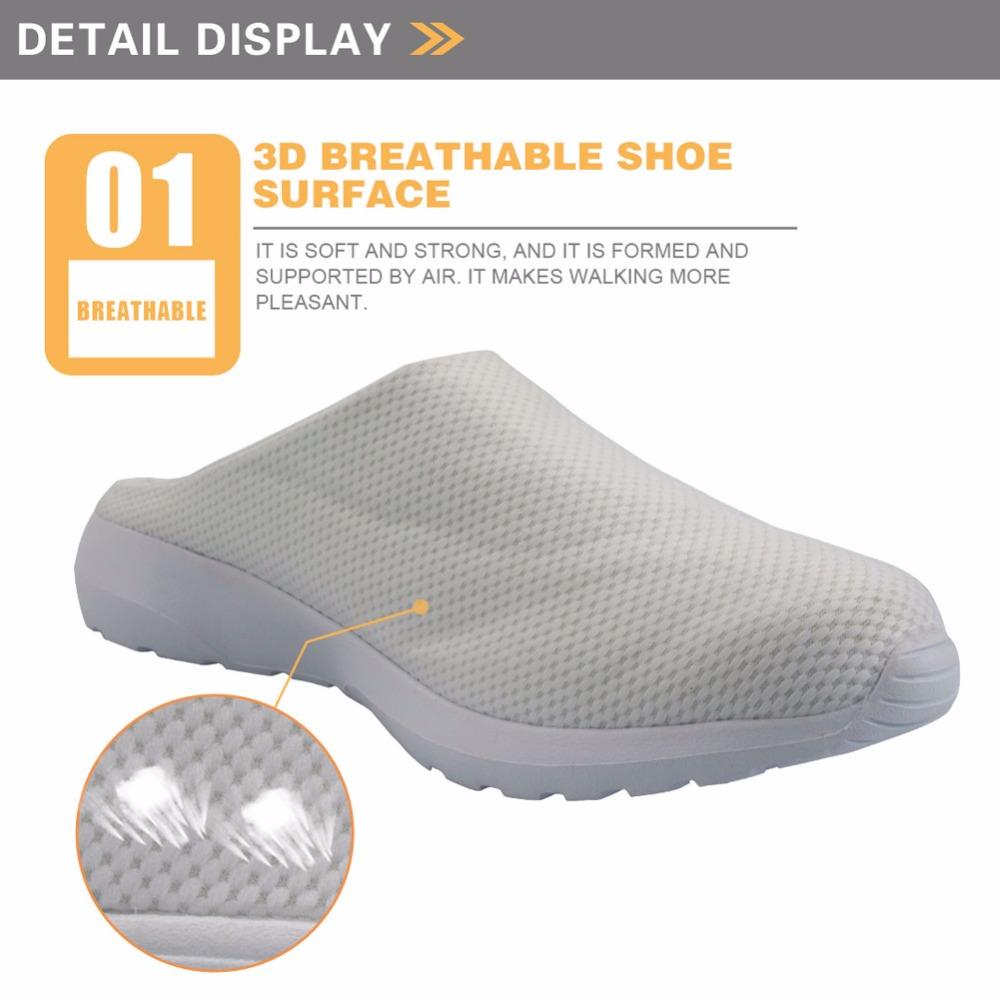 INSTANTARTS Painting Printing Outdoor Sandals Summer Breathable Air Mesh Lightweight Women Slip On Slippers Beach Shoes Female