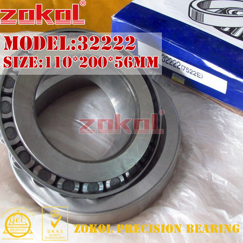 ZOKOL bearing 32222 7522E Tapered Roller Bearing 110*200*56mm zokol bearing 31310 27310e tapered roller bearing 50 110 29 5mm