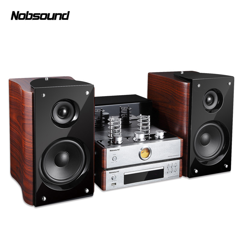 Nobsound Bluetooth Combined speaker Output power 60W <font><b>5670</b></font> Electron <font><b>tube</b></font> amplifier Bookshelf HIFI stereo system speaker Player image