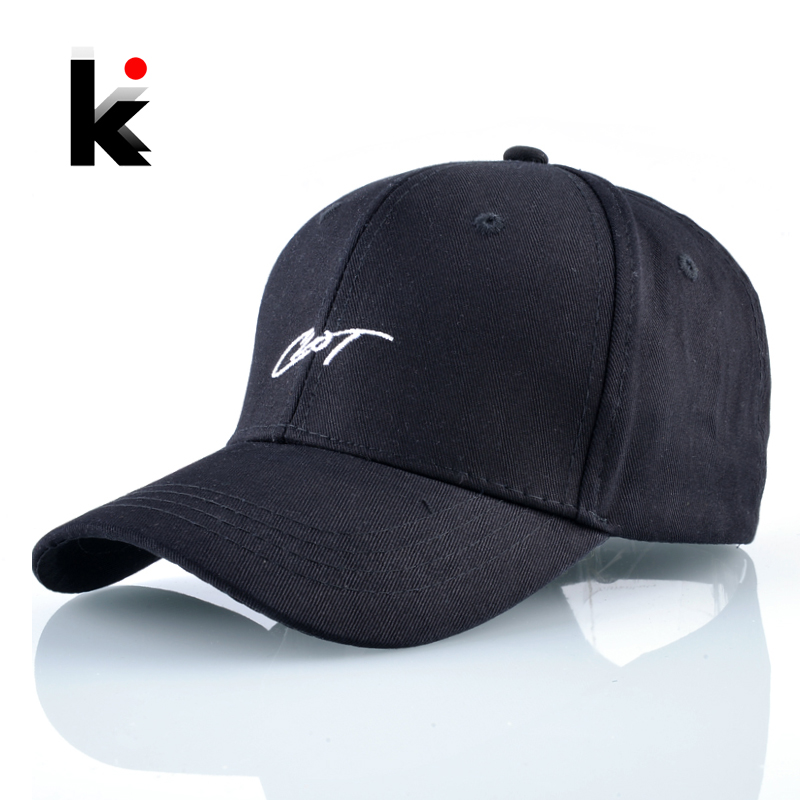 Baseball-Cap Embroidery Letter Snapback-Bone Black Cotton Women Casual for And Outdoor
