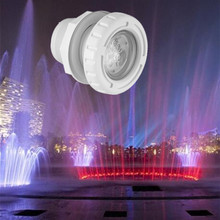 Underwater Light Pool Fixture Ip68 Plastic 6W Fountain Led Spa Massage Lights Rgb Waterproof Outdoor Lighting 12V 24V