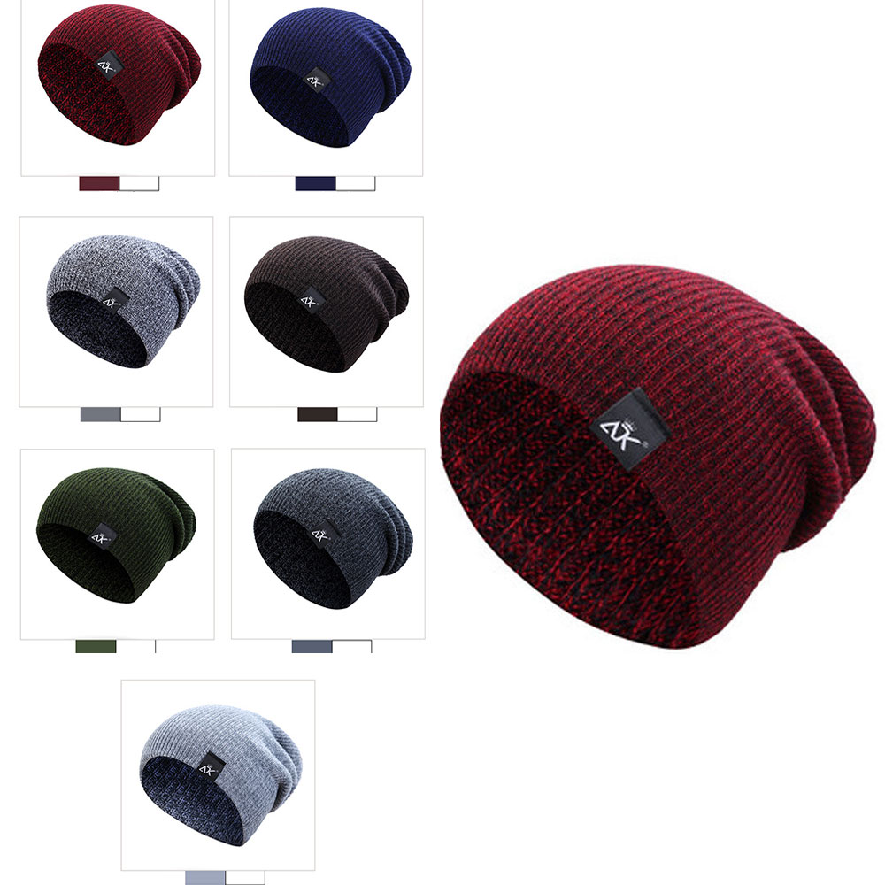Bonnets laine Chapeaux D'hiver Ski Sports Tricot Unisexe 10
