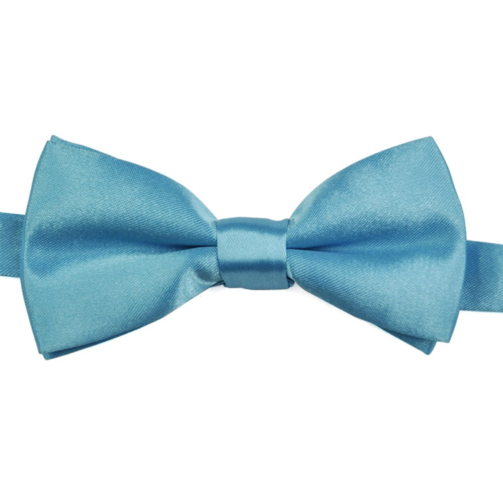 LHLL!New Boys Children Kids Solid Bow Tie Pre Tied Wedding Party Satin Bow Tie