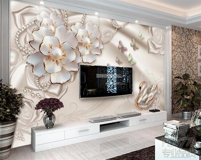 Beibehang 3d carta da parati gioielli di lusso squisito for Carta parati lusso