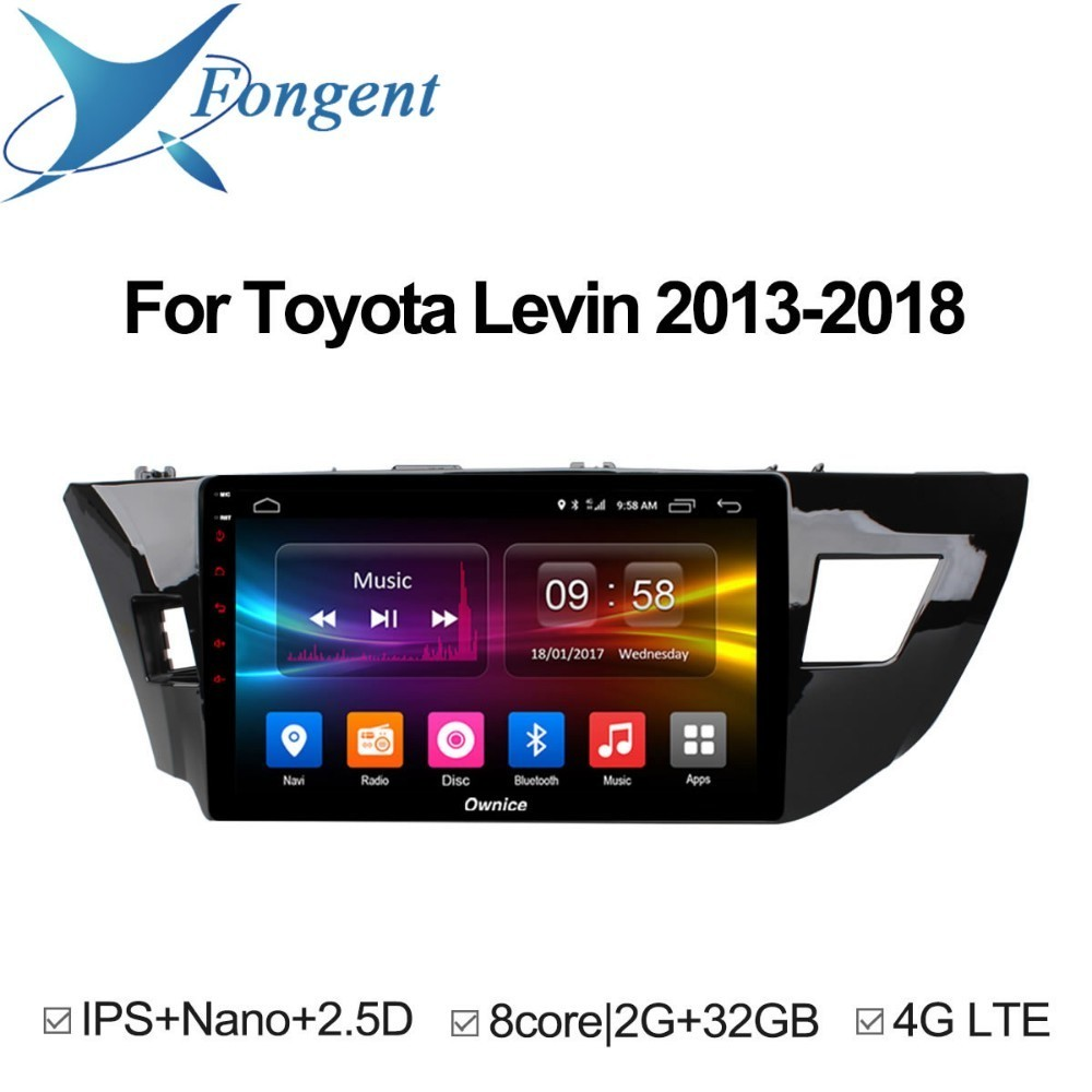 For Toyota corolla 2014 2015 Levin 2013 2014 2015 2016 2017 2018 Car Android Unit GPS