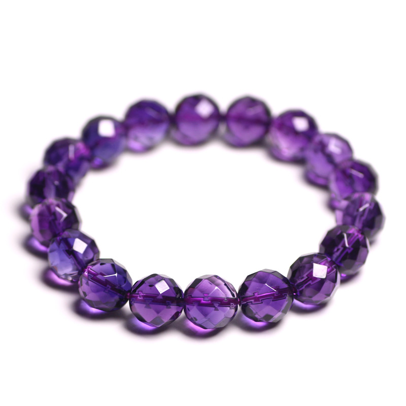 Natural Stones Brazil Amethyst Bracelet 64 Facet Purple Crystal Quartz Round Bead Men Women Bracelet Healing Energy Gift JewelryNatural Stones Brazil Amethyst Bracelet 64 Facet Purple Crystal Quartz Round Bead Men Women Bracelet Healing Energy Gift Jewelry