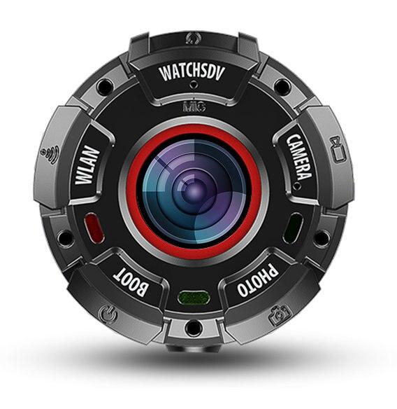 WatchSDV ZGPAX Intelligente Orologio Wearable Mini 8 m Impermeabile 1080 p Videocamera 90 Minuti di Ripresa Action Sports Camera 6A + occhiali Lente