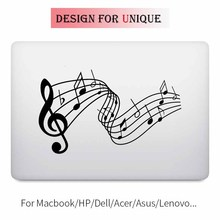 Music Melody Notes Laptop Decal Sticker for Apple Macbook Decal Pro Air Retina 11 12 13 15 inch Vinyl Mac Mi Surface Book Skin