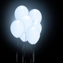 Фотография 50Pc/set White Luminous Balloons Romatic Balloon LED Lights for Christmas Decoration Party Wedding Balloons Lights 12 inches