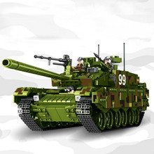 Tank World Military War Weapon Type 99 Building Blocks Sets Models Educational Toys