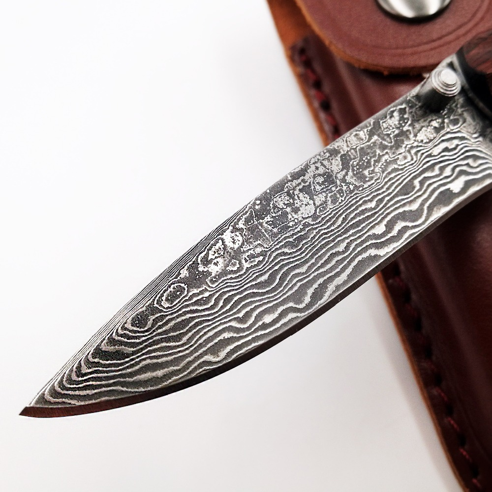 Survival Knife Tools Knives Damascus Tactical VG10 EDC Knife Folding Rosewood Handmade Handle Pocket Hunting Blade JSSQ Camping