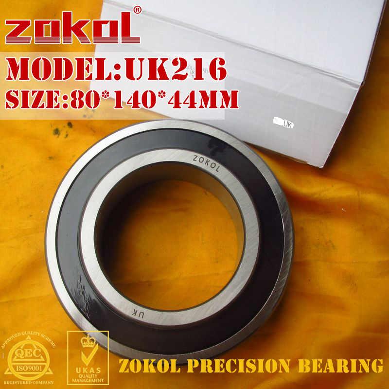 ZOKOL bearing UK216 Taper hole 190516 Pillow Block Ball Bearing 80*140*44mm