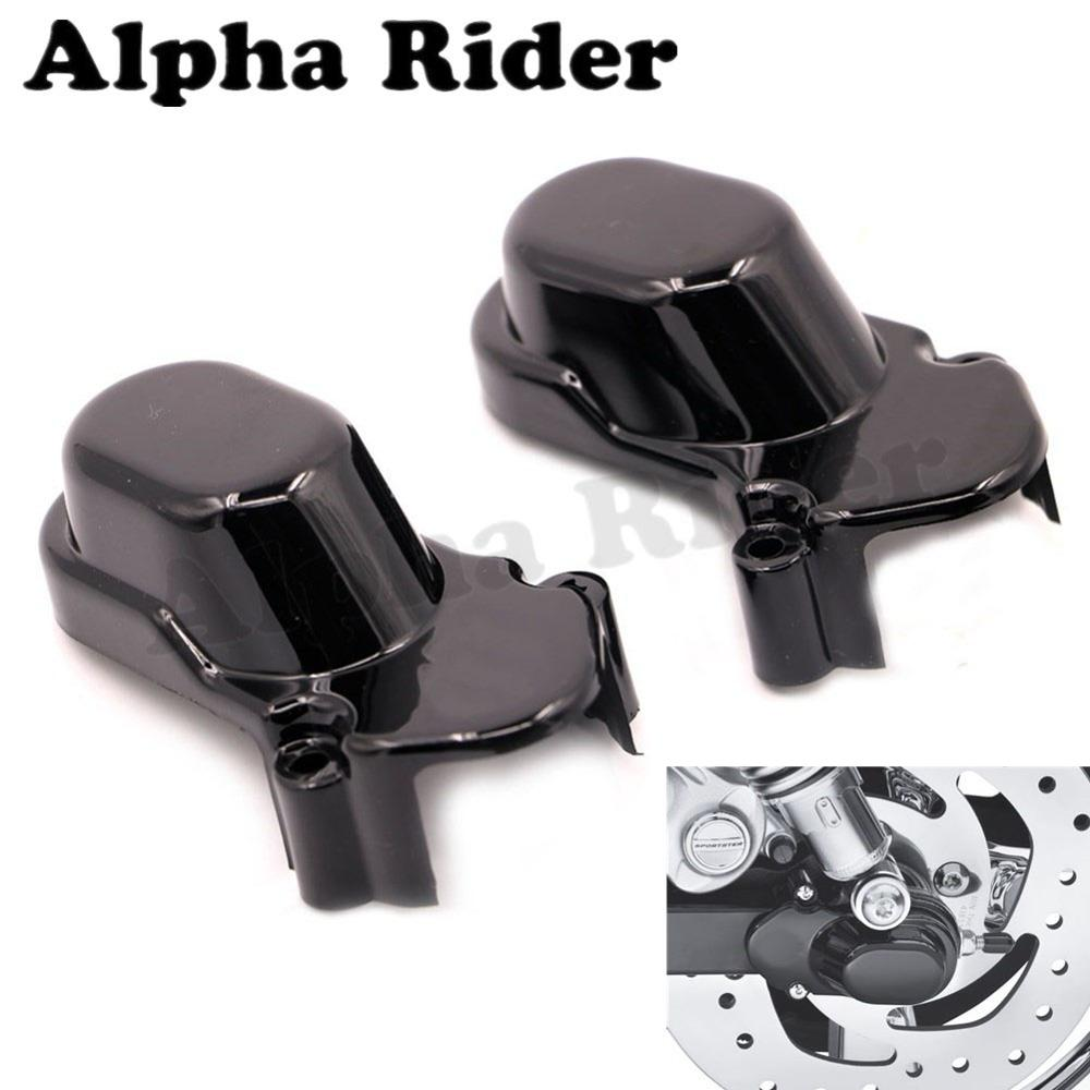 ABS Bar & Shield Rear Wheel Axle Cover Kit for Harley 48 72 Low <font><b>Iron</b></font> Sportster XL <font><b>883</b></font> 1200 Nightster Roadster Custom 2005-2016 image