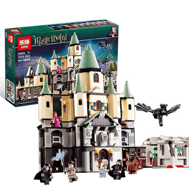 Harry Potter Bricks Magic Hogwort Castle Set LEPIN 16029 Movie Series Children Educational Building Blocks Kids Toys Gift 5378 10551 elves ragana s magic shadow castle building blocks bricks toys for children toys compatible with lego gift kid set girls