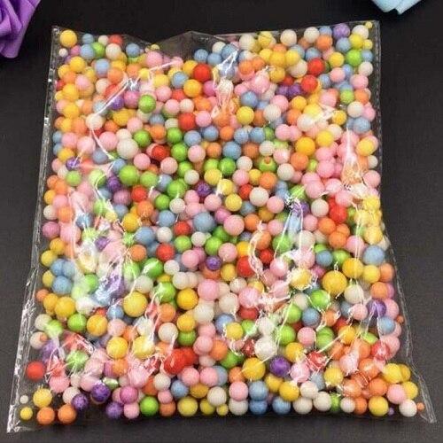 XCONNYX Fashion Decorative Ranbow Assorted Color Polystyrene Styrofoam Filler Foam Mini Beads Balls DIY Decoration
