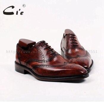 f67ff0dc4ae9 С квадратным носком заказ мужская кожаная обувь ручной работы из  натуральной телячьей верхней и подошва из дышащей кожи Мужские модельные .