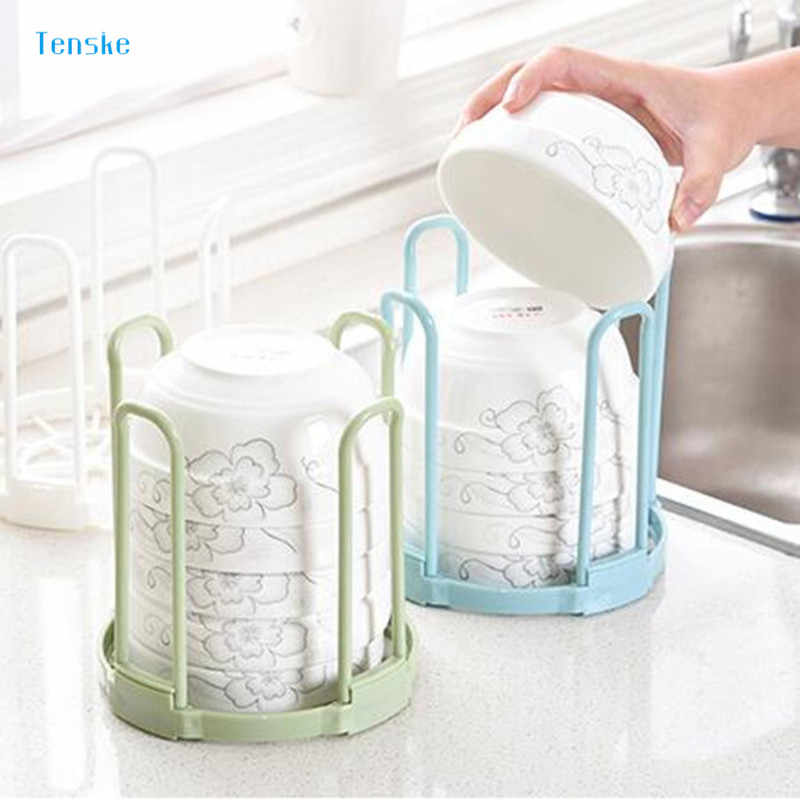TENSKE kitchen organizer Bowl Holder Drain Water House Dish Storage Rack Organizers for Kitchen Storage Tool