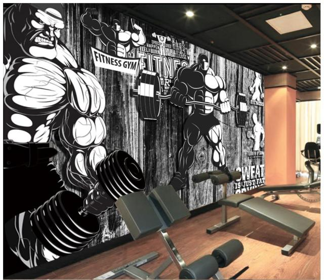 3D wallpaper custom 3d wall murals wallpaper Gym murals Vintage