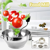 Multifunction Stainless Steel Agitator Fruit and Vegetable Grinder Baby Potato Jam Grinder Baby Food Mill Machine Kitchen Tools
