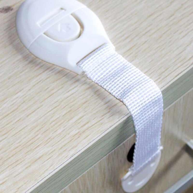 1 Pcs เด็กความปลอดภัยล็อคพลาสติกลิ้นชักประตูตู้ล็อคป้องกันเด็กสำหรับทารกแรกเกิด
