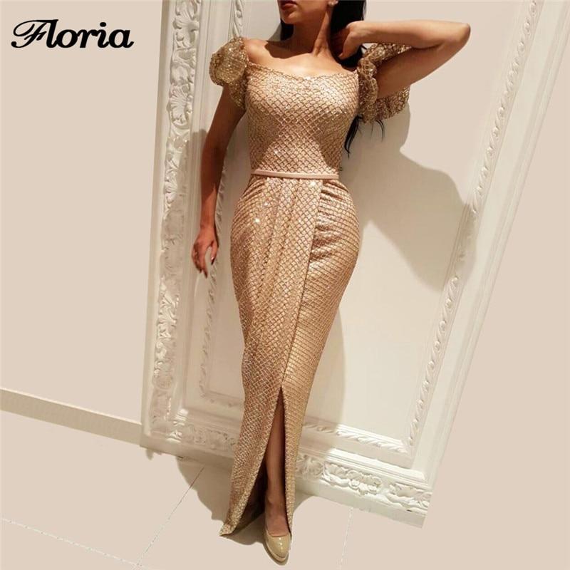 African Champagne Evening Dresses For Formal Robe de soiree Turkish Arabic Dubai  Prom Gowns Muslim Kaftan 7b7008dad9bd