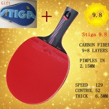 best quality professional long and short handle grip table tennis racket shake hand pingpong racket paddle rubber bats