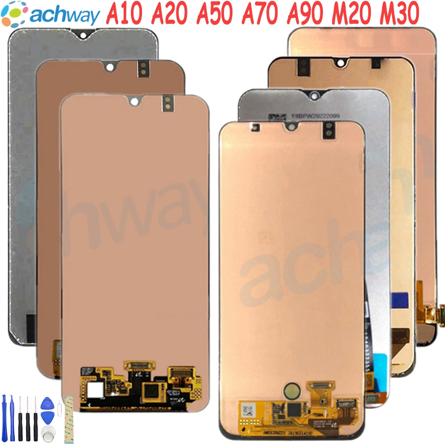 For Samsung Display A50 LCD A10 A20 A70 A90 LCD Display Touch Screen Digitizer Assembly For Samsung A50 LCD M20 M30 LCD Screen