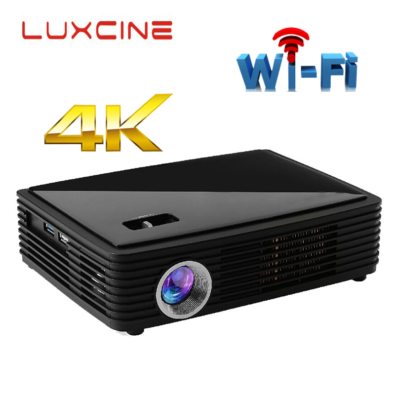 WZATCO Z4000 Android bluetooth WiFi AirPlay Miracast 2205P Portable LED DLP 3D 4K Projector HD home theater proyector Beame проектор k mic led wifi 1080p 3d