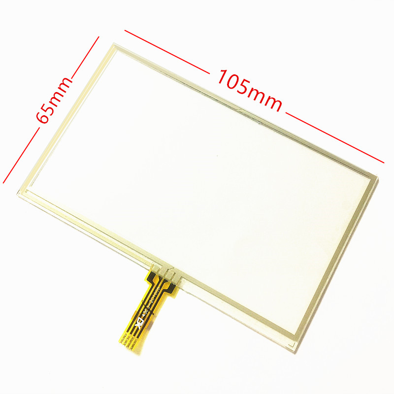 skylarpu New 4.3-inch 105mm*65mm Touch screen panels for AT043TN24 V.4,GPS navigator,105*65mm Touch Screen Digitizer Panel touch screen glass 154 105 mm as shown in figure new