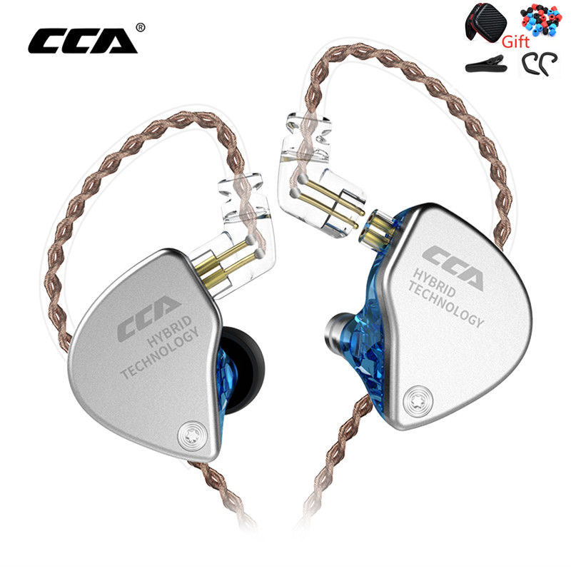 CCA CA4 1DD+1BA In Ear Earphones Monitor  Metal Hybrid Technology Hifi Bass Earbuds Sport Noise Cancelling Headset