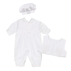 Image 4 - ベビーボーイズベビードレス幼児少年結婚式誕生日パーティーロンパースベスト帽子フォーマル紳士スーツ洗礼ベビー少年服