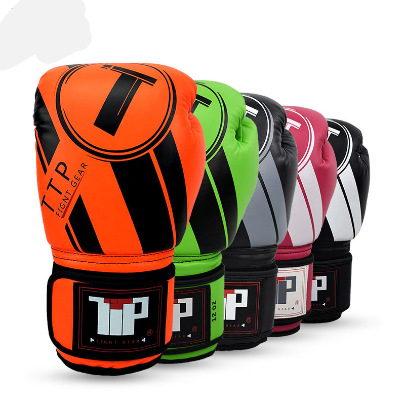 4 couleurs MUAY THAI PU EN CUIR gants de boxe POUR HOMMES FORMATION MMA gants de boxe