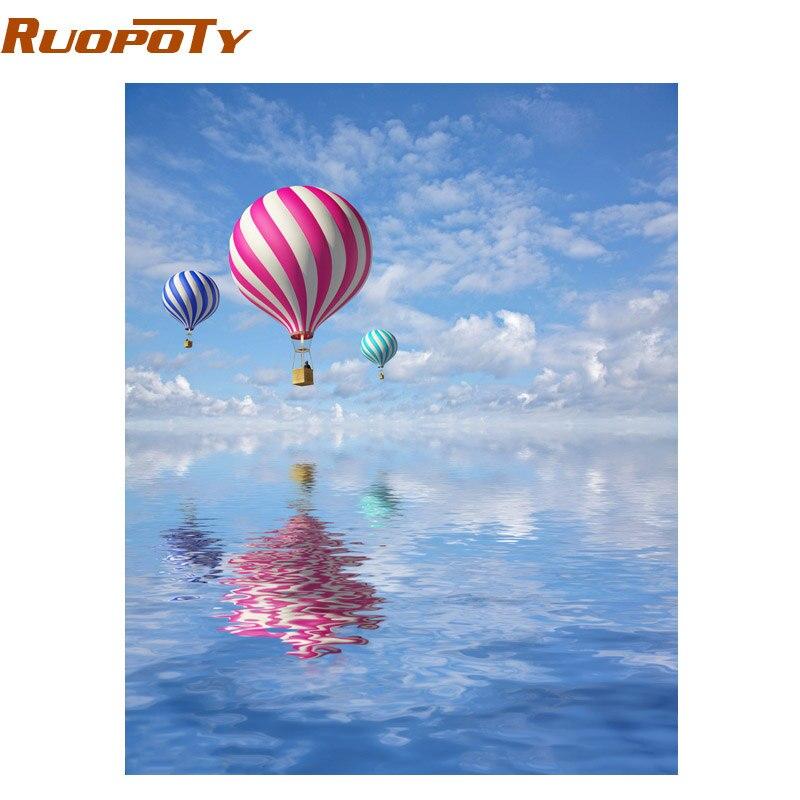 RUOPOTY Rahmen Bild Romantische Ballon DIY Gemälde Von Nummer ...